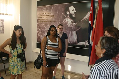 Honors students visit National Literacy Museum in Havana, Cuba