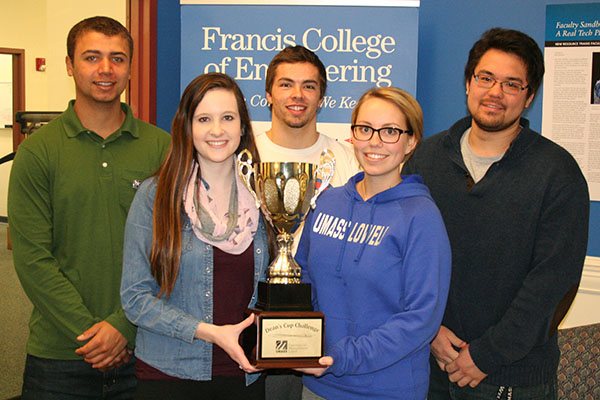 members of team Un-CIVIL-ized pose with Deans Cup