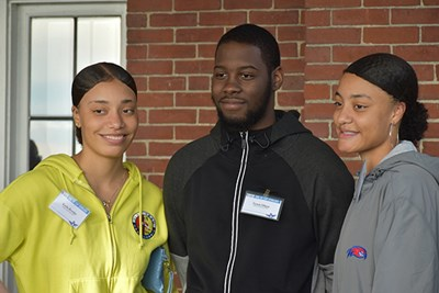 Twins Kayla and Jae'la Rowles and friend Tyson Minor are part of the new DC-CAP Scholars program at UMass Lowell