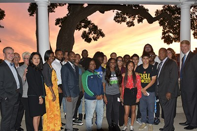 The DC-CAP Scholars attended a welcome reception and dinner at UMass Lowell's historic Allen House