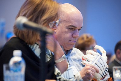 DifferenceMaker judge examines prosthetic hand