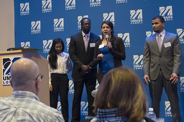 Ten teams of UMass Lowell students will pitch their products expert judges and vie for a share in $50,000 in this year's DifferenceMaker Idea Challenge, to be held on Wednesday, April 19.
