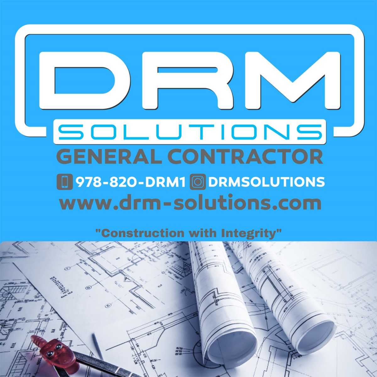 drm solutions logo. DRM Construction Solutions, LLC offers home improvements, specializing in kitchen and bathroom remodels.