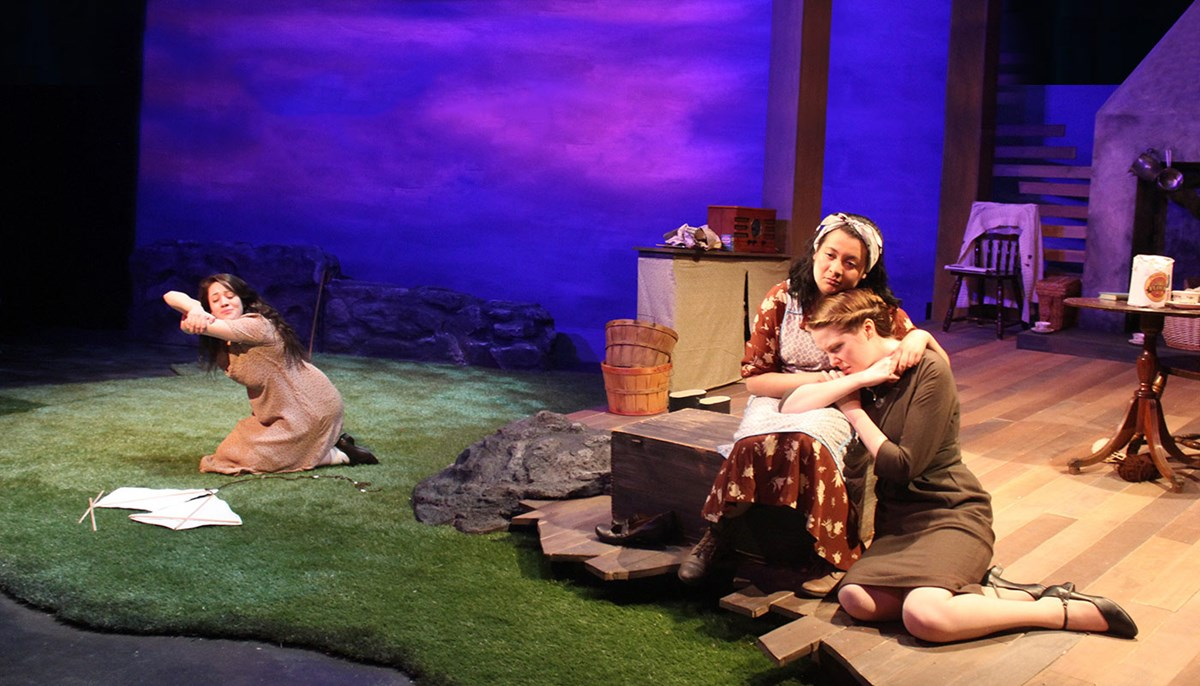 UMass Lowell students perform Dancing at Lughnasa in the Spring of 2017.