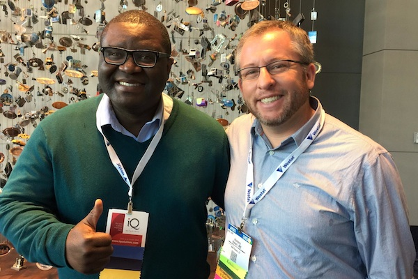 Daniel Okyere, who is pursuing a degree in public health with the assistance of the NIOSH grant, attended the American Public Health Association conference with program graduate Homero Harari '15, an instructor in preventative medicine at the Mt. Sinai School of Medicine.