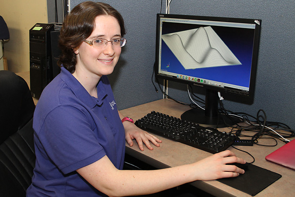Mechanical engineering senior Deborah Fowler conducts research on structural dynamics, particularly nonlinear systems.