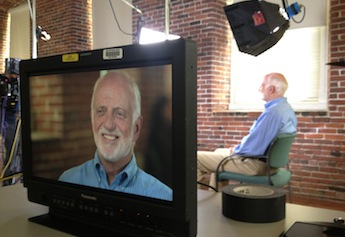 Epidemiologist Richard Clapp was interviewed on campus by NBC News Chief Medical Editor Dr. Nancy Snyderman.