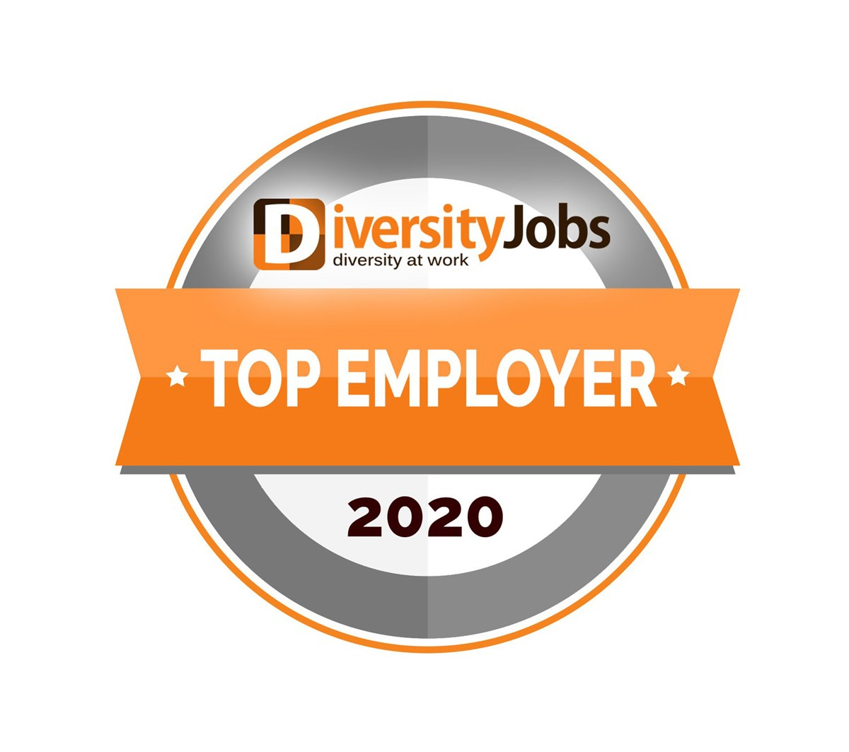 Badge recognizing UMass Lowell as a top diversity employer for 2020