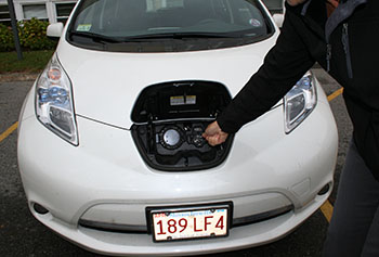 Electric vehicle owners will soon be able to charge up on campus.