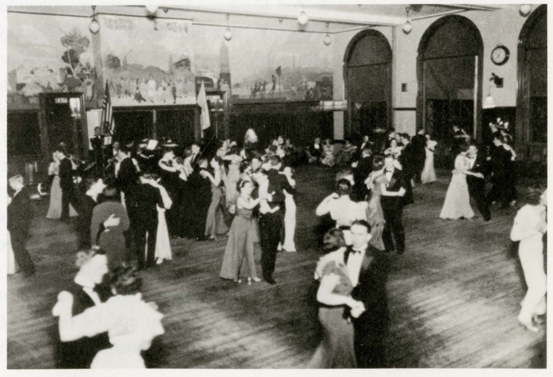 Students dance at the Easter formal in 1936