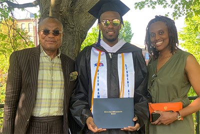 Economics and Peace and Conflict Studies graduate Christian Lutete '19 '20