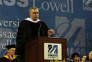 Boston Police Commissioner Ed Davis at UMass Lowell Undergraduate Commencement 2013
