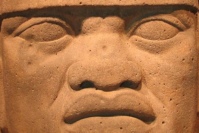 Olmec head from Veracruz State, Mexico