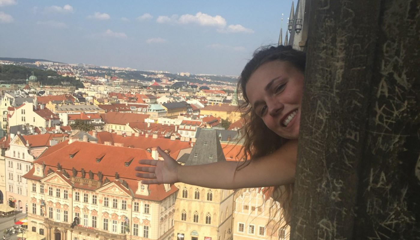 UMass Lowell student Elizabeth Mahoney on study abroad in Prague