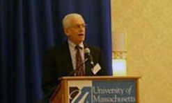 Robert Tamarin, dean of sciences, opened the two-day conference.