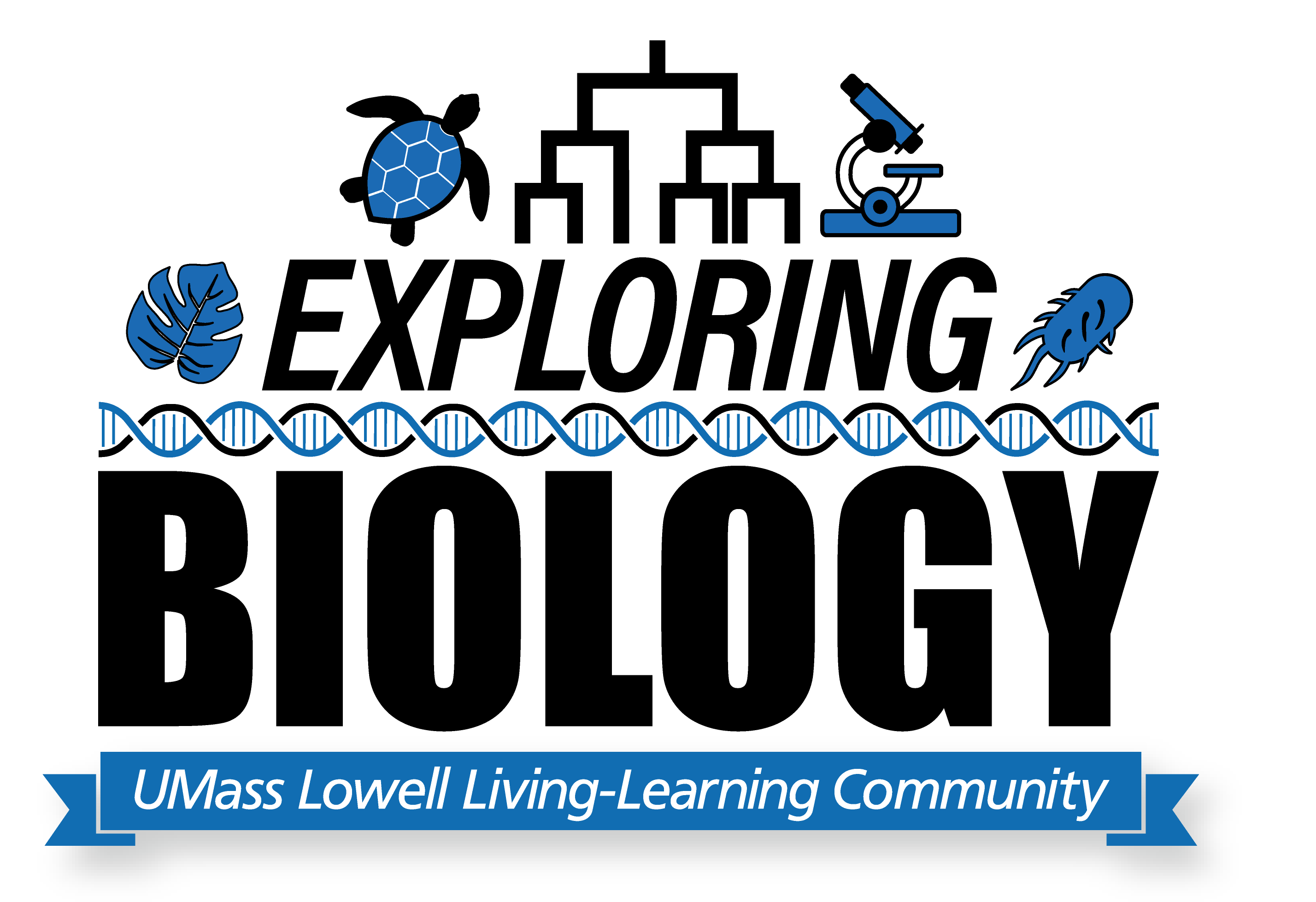 Explore Biology LLC graphic. The Exploring Biology Living-Learning Community is designed for students interested in exploring the breadth of biological studies. Students with interests from molecular biology to biology of organs and organisms, to ecological systems will gain exposure to the diversity of issues in the field and explore career options open to a diversity of biologists.