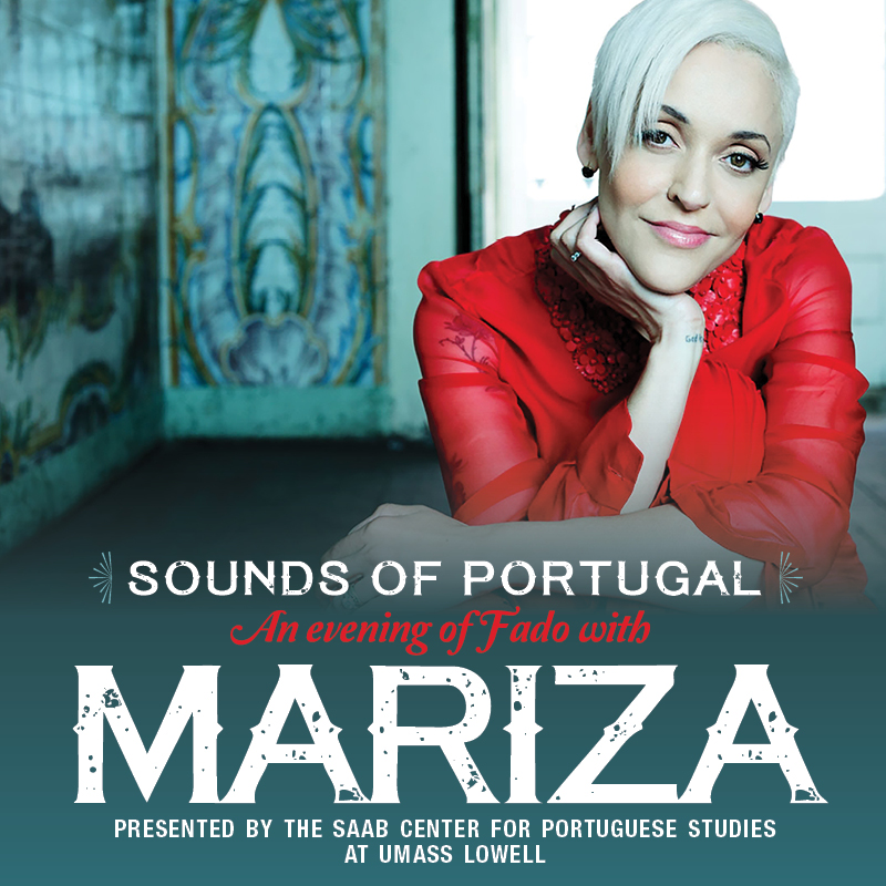 Poster of singer, Maritza, for an event presented by the SAAB Center for Portuguese Studies at UMass Lowell