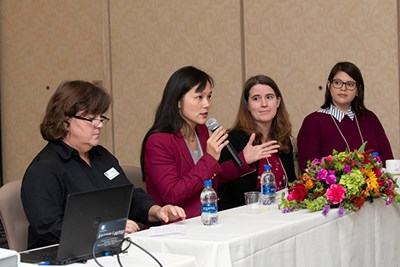 Faculty members take part in a pedagogy panel discussion