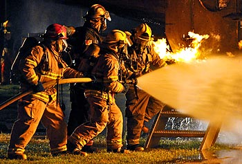 Assoc. Prof. Ramaswamy Nagarajan and his collaborators are developing non-toxic, bio-based and halogen-free fire-retardant materials for treating protective gear worn by soldiers and firefighters when battling blazes.