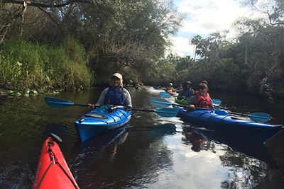 Kayaking in Florida with OAP