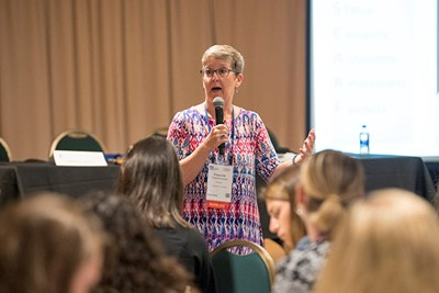 Francine Crystal leads a workshop at UMass Lowell Women's Leadership Conference 2018