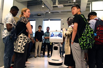 Global Exchange students visit iRobot's headquarters in Bedford