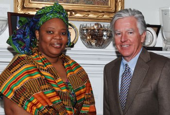 Leymah Gbowee and Chancellor Meehan