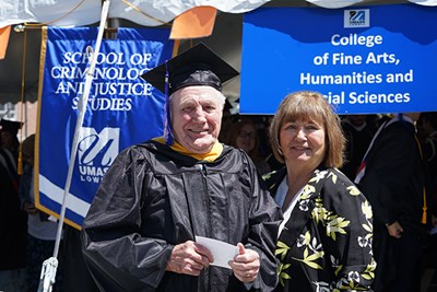 Gerry Devlin and his wife Pixie at Commencement