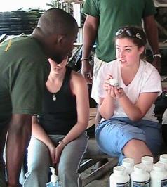 UMass Lowell Nursing students working abroad in Ghana