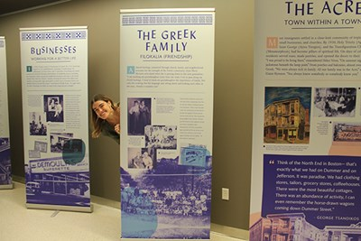 "Greece's consul general in Boston, Stratos Efthymiou, spoke at the opening of ""Acropolis in America,"" an exhibit at UMass Lowell"