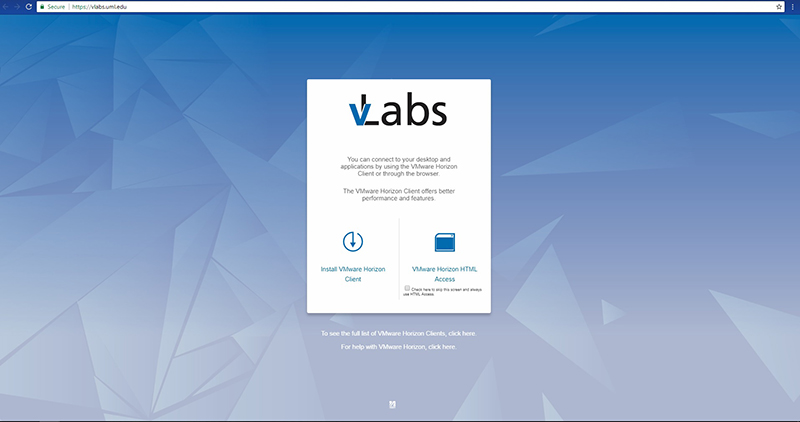 HTML Access | Client Configurations | vLabs | Services By