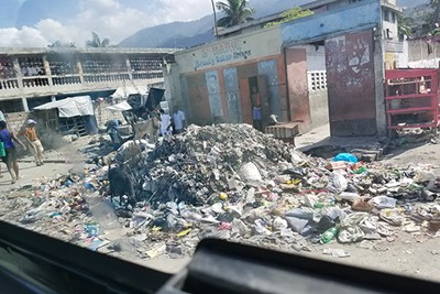Piles of rubble and trash are everywhere in Haiti, which has little sanitation infrastructure