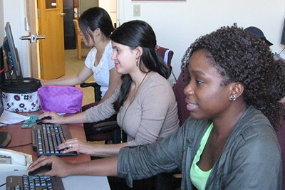 Graduate students Katerin Ramirez Tejeda and Kelechi Adejumo worked on the health assessment.