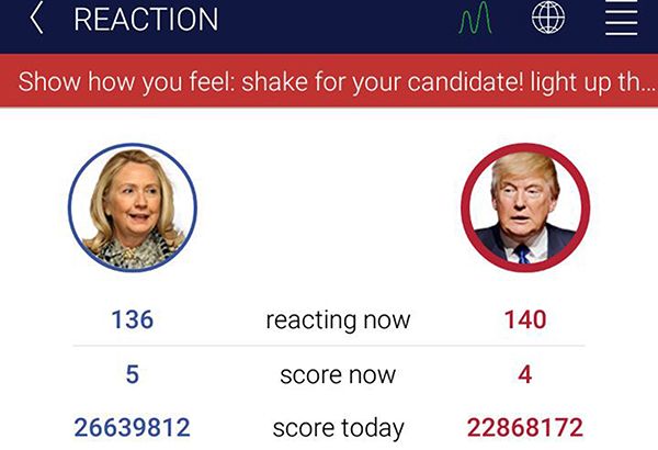 A look at the new HillaryDonald app.