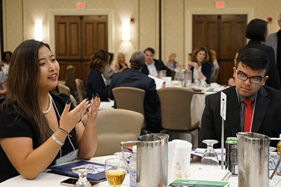 Recent UMass Lowell graduate Daisy Var and Middlesex Community College student Sumail Sajid spoke about their experiences at the Voices of Hunger conference.