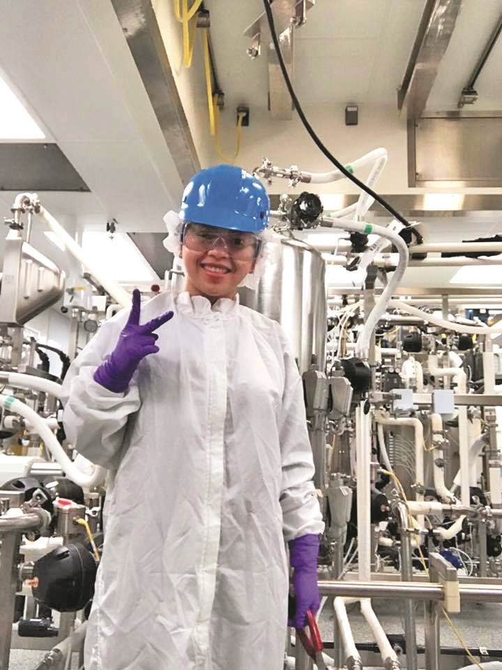 UMass Lowell senior chemical engineering major Huyen Tran, process engineer co-op at Pfizer