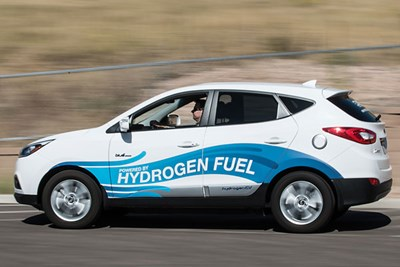 Hydrogen-powered fuel cell car