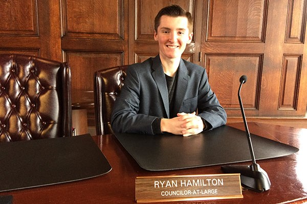 Newly-elected Methuen City Councilor-at-Large Ryan Hamilton is a UMass Lowell sophomore studying political science