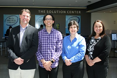Left to right, Richard Conley, Julio Hernandez, Lori Dembowitz and Doreen Bray