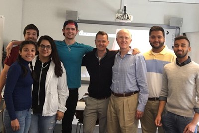 UML students with Peter Mühlmann, founder and CEO of Trustpilot