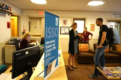 The ISSO office at Cumnock Hall is busy with advising sessions