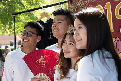 Members of the Vietnamese Student Association is one of several international student clubs at UMass Lowell