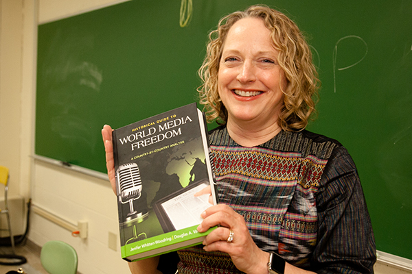 Jenifer Whitten-Woodring and her book