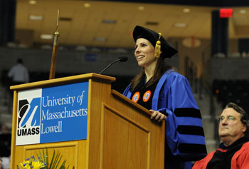 Jessica Huizenga, who received a doctorate from the Graduate School of Education in May, says UMass Lowell's online program made it possible for her to pursue an advanced degree.