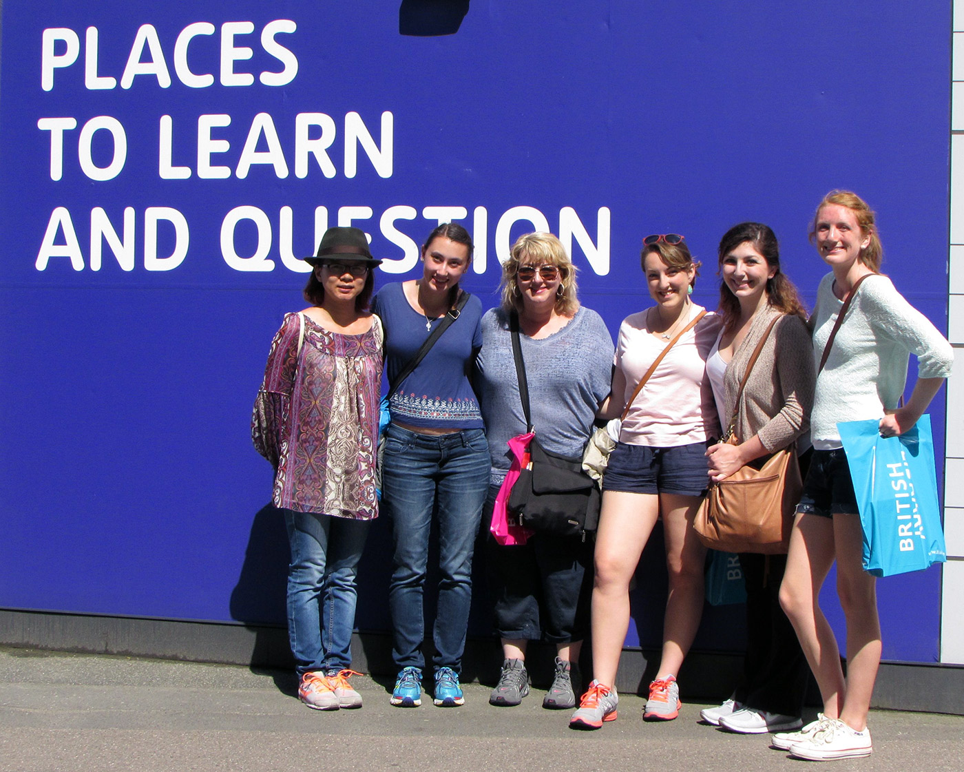 Journalism and Professional Writing students on a study abroad trip in London