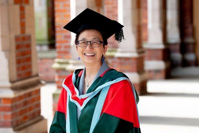 Julie Chen receives an honorary degree at Queen's University Belfast