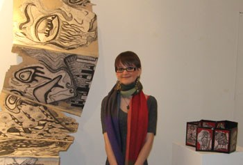 Kristen Richards with artwork