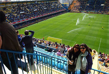 Krystal Quezada '13 spent her final undergraduate semester as an intern with the Villarreal soccer club in Valencia, Spain.