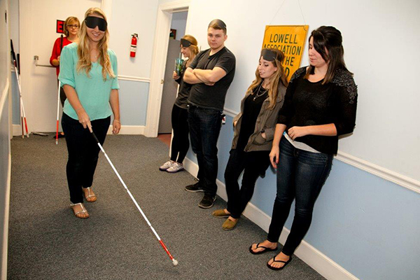 Class Gets Literate in Blindness with LAB Visit