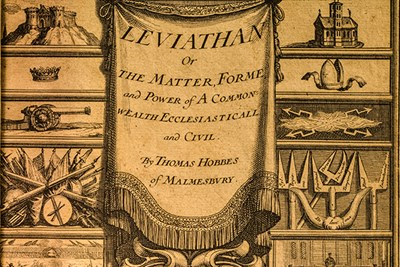 Frontispiece of Hobbes' Leviathan, lower half
